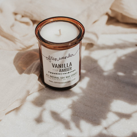 Often Wander Objects 6 oz / Vanilla & Amber / FINAL SALE Vanilla & Amber Apothecary Candle