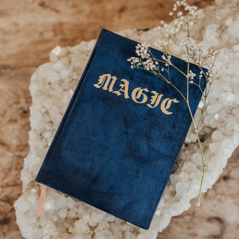 Printfresh Objects Blue / FINAL SALE Magic Velvet Journal