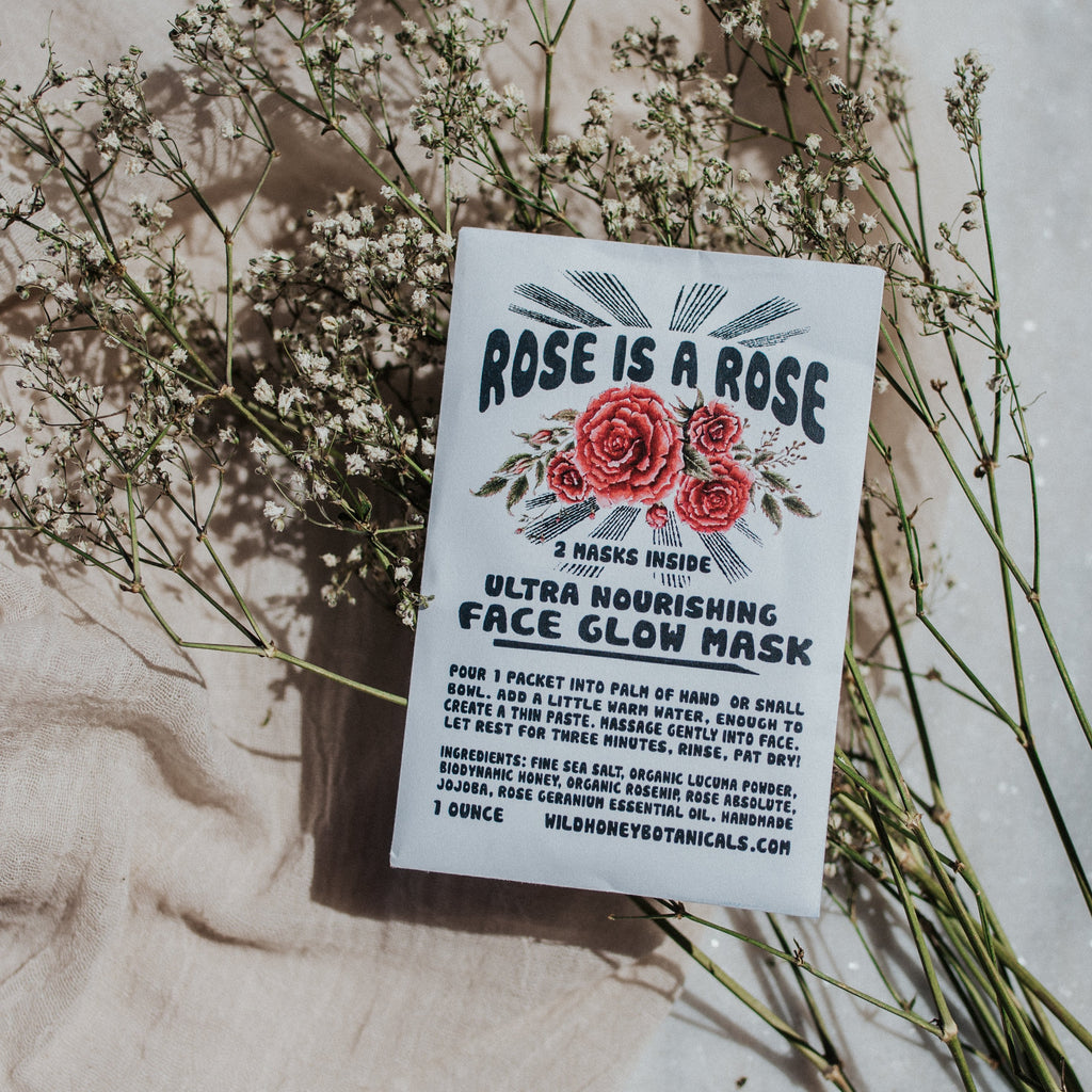 Wild Honey Apothecary Objects Rose is a Rose / FINAL SALE Face Glow Mask