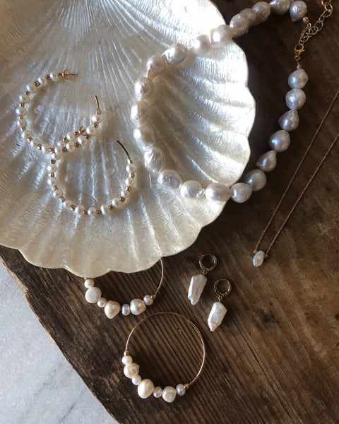CGM Jewelry Pearl Drop Necklace