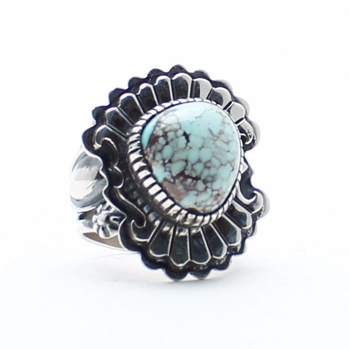 Child of Wild sale Turquoise / US 8.5 Navajo Robins Ring