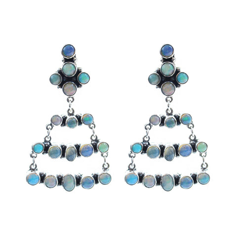 Sunwest Jewelry Opal Opal Chandelier Earrings