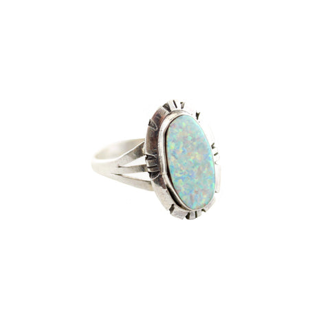 Lyra's Boyfriends Jewelry US 6 Opal Drop Ring