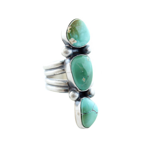 Sunwest Jewelry US 7 Three Wishes Turquoise Ring