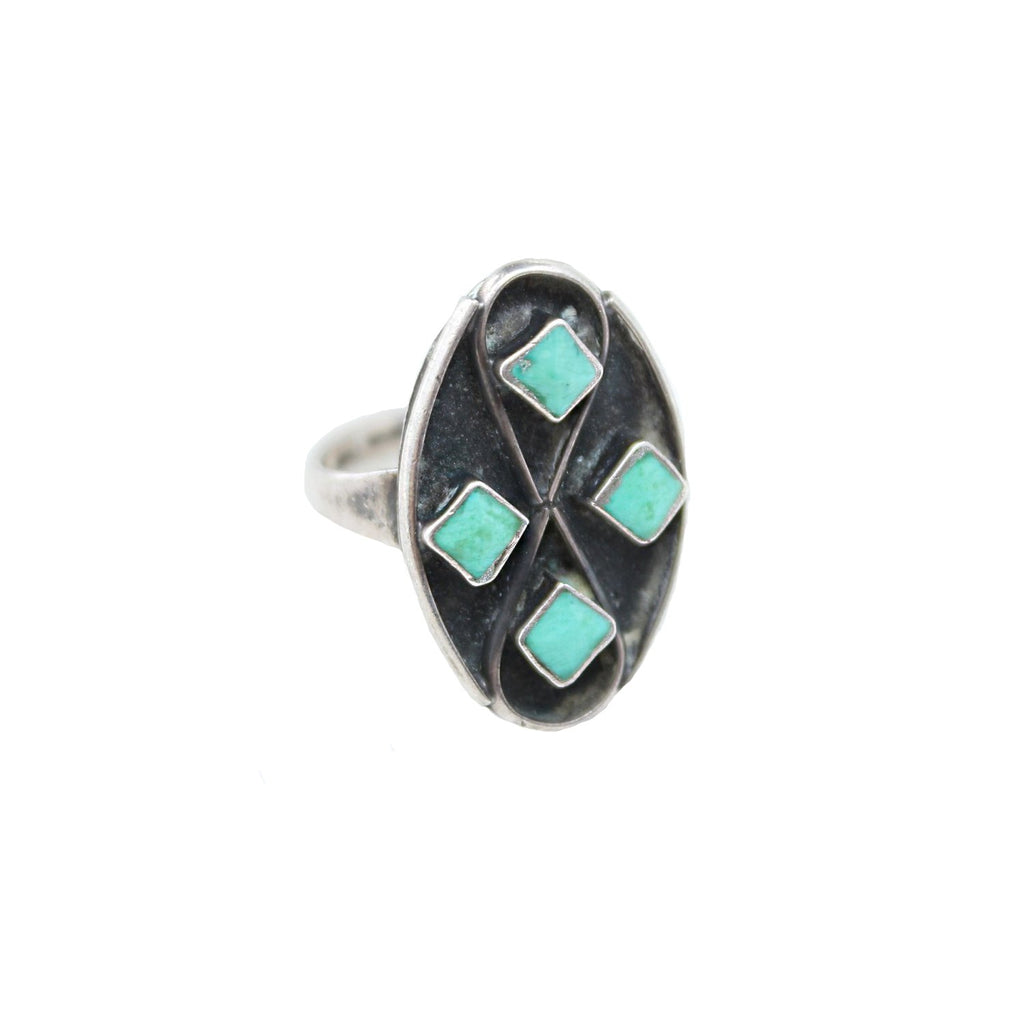Diamond Turquoise Vintage Ring