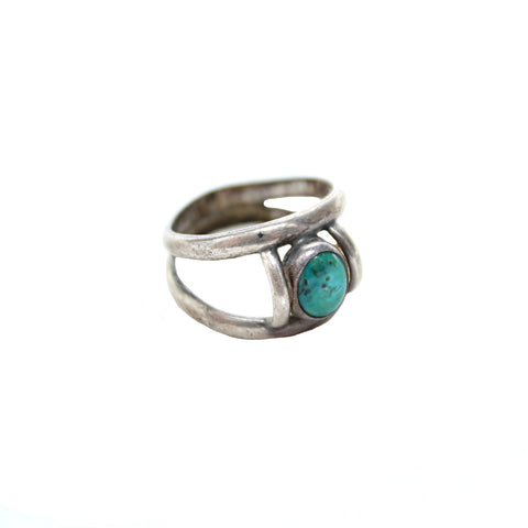 Vintage Native American Jewelry US 5 / Turquoise Darling Turquoise Vintage Ring