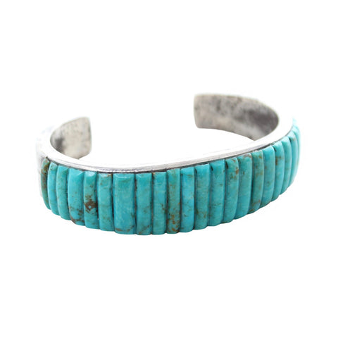 Vintage Native American dead stock Turquoise Blue Bird Vintage Native American Cuff
