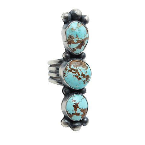 Sunwest Jewelry Silver / US 6 Blue Frost Native American Ring