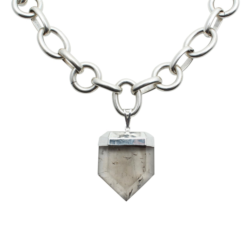 Goddess Jewelry Silver Crystal Chain Necklace