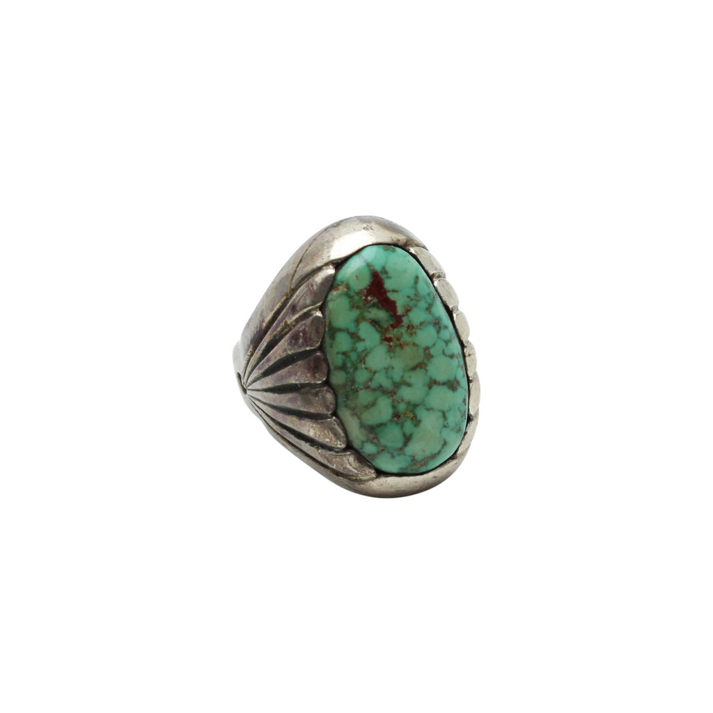 Brian's Boss Jewelry Silver Turquoise Signet Native American Ring