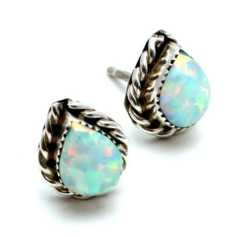 Rainstorm Opal Stud Earrings - Child of Wild  - 1