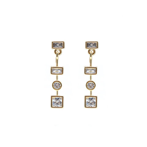 Dona Italia Jewelry Gold Shape Drop Earring