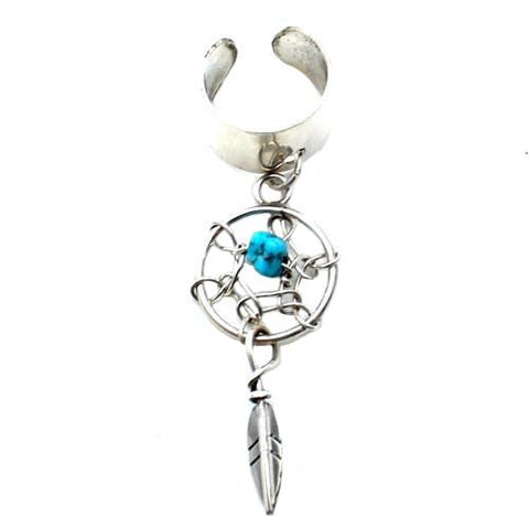 Thunderbird Jewelry Jewelry Silver Dreamcatcher Native American Ear Cuff