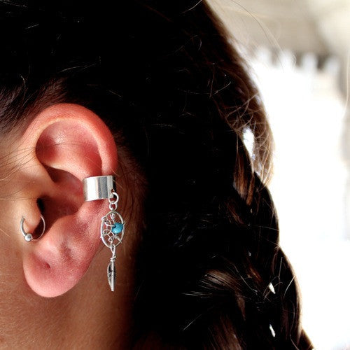 Thunderbird Jewelry Jewelry Dreamcatcher Native American Ear Cuff