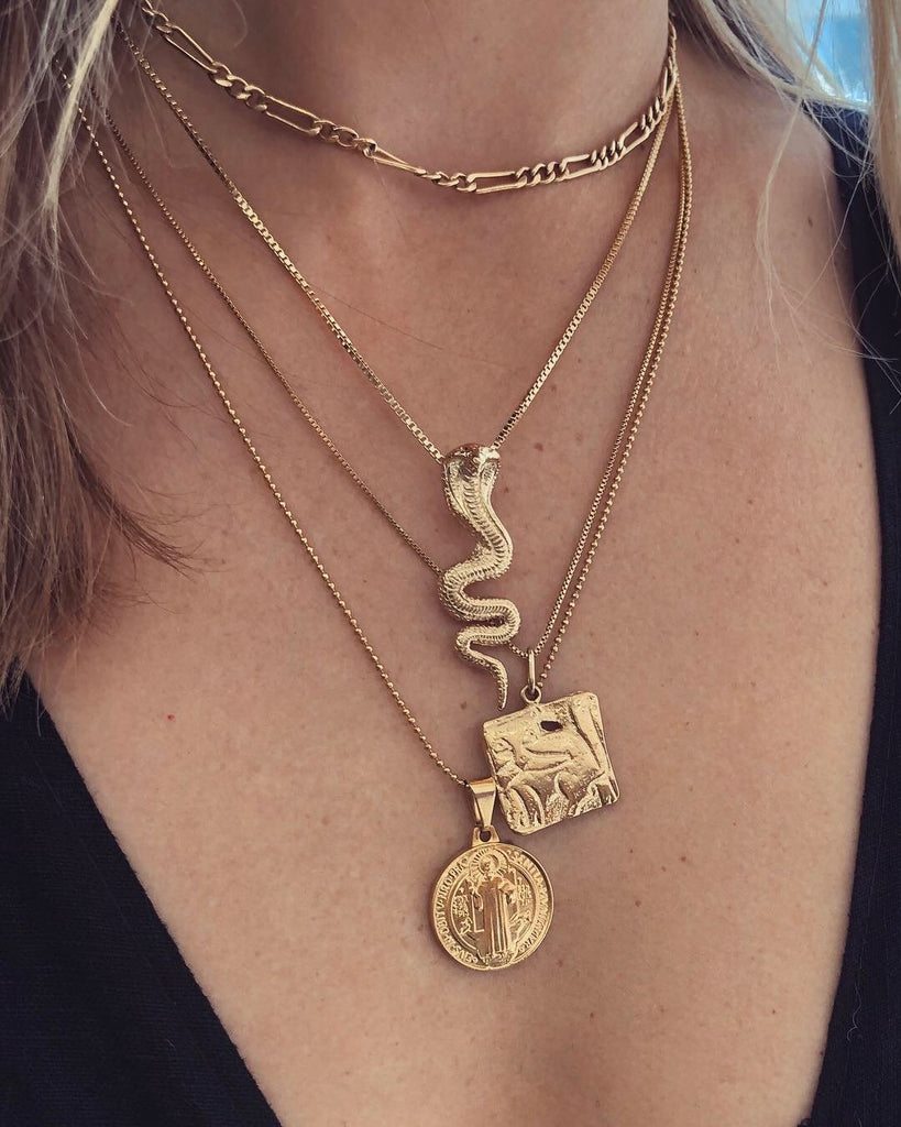 Dona Italia Jewelry Gold Gold Cobra Necklace