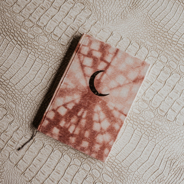Printfresh Objects Tie Dye / FINAL SALE Crescent Shibori Thin Velvet Journal