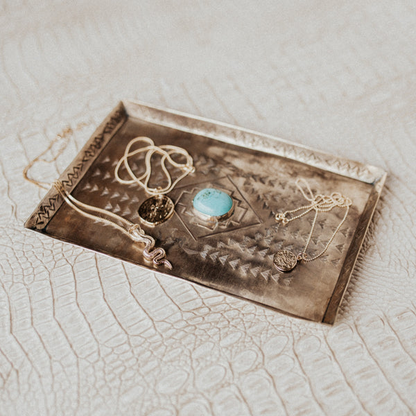 J. Alexander Objects Silver / FINAL SALE Turquoise Treasure Tray