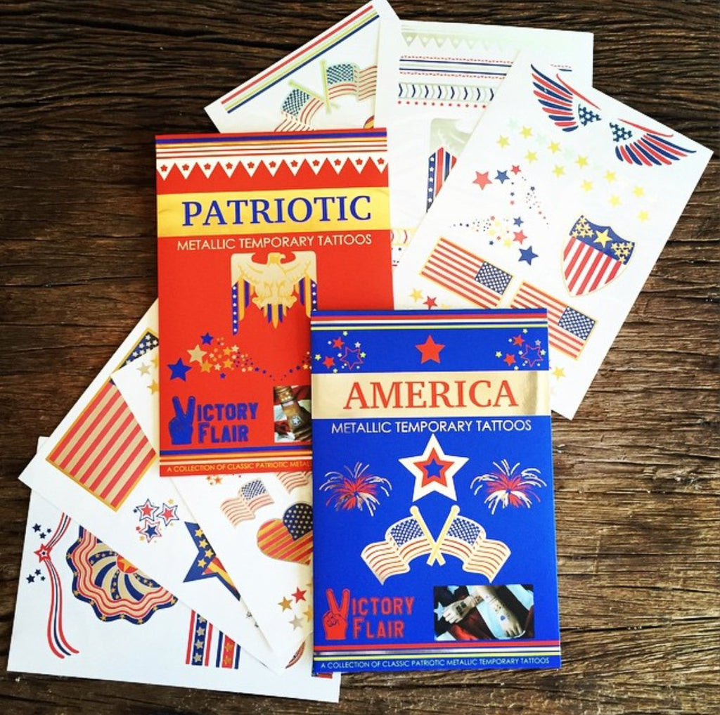 4th of July Temp Tats - 2 Pack