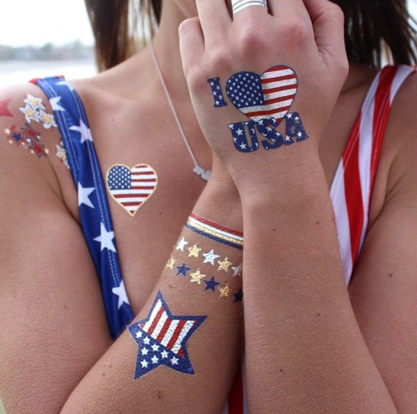 Child of Wild sale 4th of July Temp Tats - 2 Pack