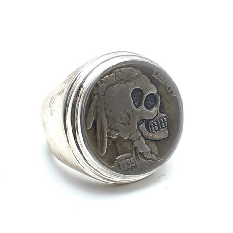 Skeleton Buffalo Nickel Ring - Child of Wild  - 1