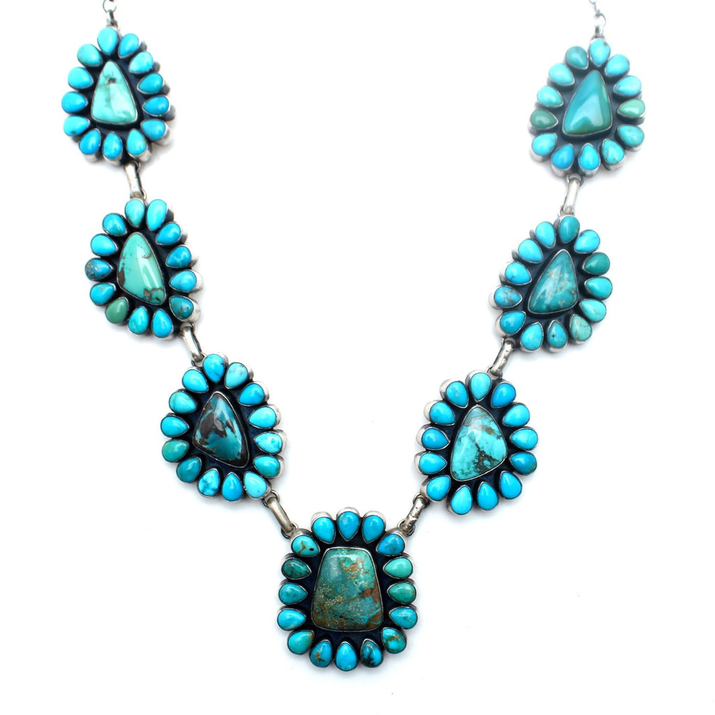Turquoise Flower Navajo Necklace - Child of Wild  - 2