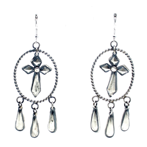Child of Wild dead stock Silver Divinity Native American Earrings