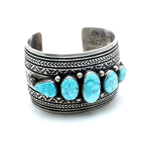 Vintage Native American Jewelry Turquoise Peyote Vintage Native American Cuff