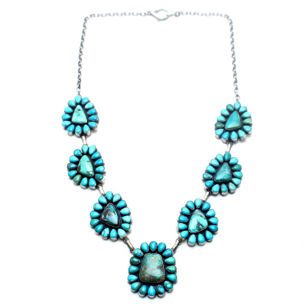 Turquoise Flower Navajo Necklace - Child of Wild  - 1
