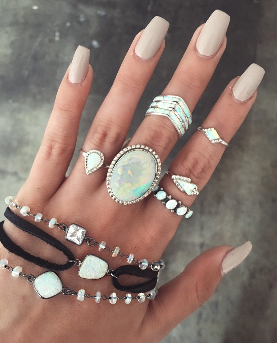 Thunderbird Jewelry dead stock Arrow Zuni Opal Ring