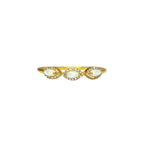 LA KAISER Jewelry US 6 / Gold Tiara Ring
