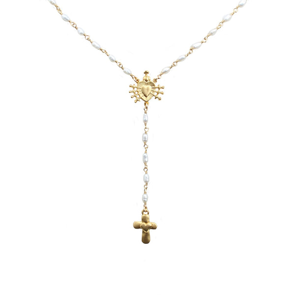 Goddess Jewelry Gold Sacred Heart Rosary
