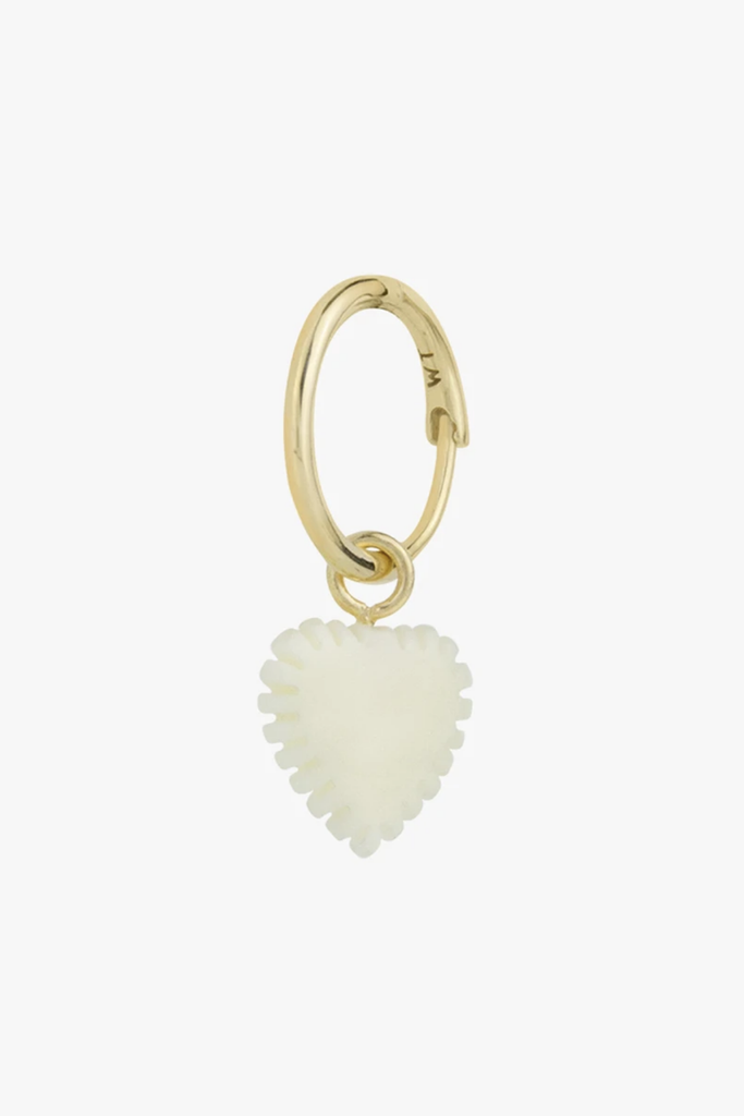 Wildthings Collectables Jewelry Ivory Heart Earring