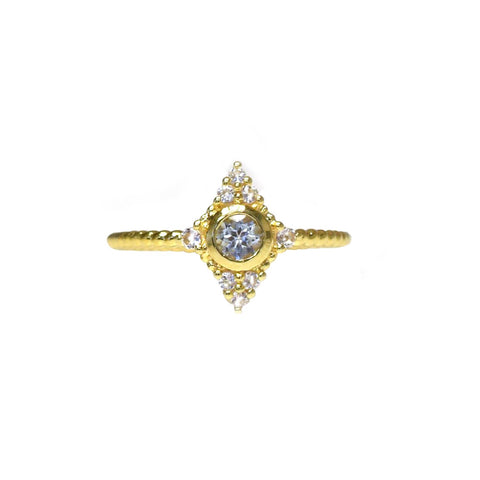 LA KAISER Jewelry US 6 / Gold Starlit Ring