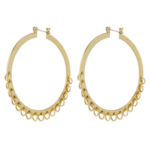 LUV AJ Jewelry Gold Pierced Hoops