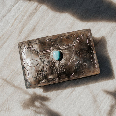 J. Alexander Objects Turquoise / FINAL SALE Soaring Thunderbird Keepsake Box