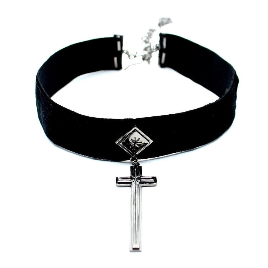 VSA sale Gunmetal / FINAL SALE / 12 Inches Santisimo Choker