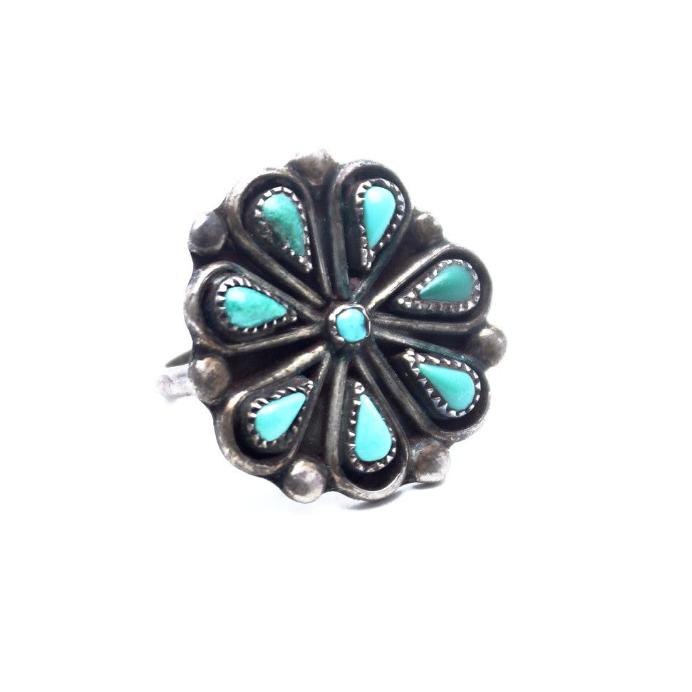 Blue Mountain Vintage Native American Ring - Child of Wild  - 1
