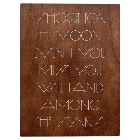 """Shoot for the Moon"" Wall Decor"