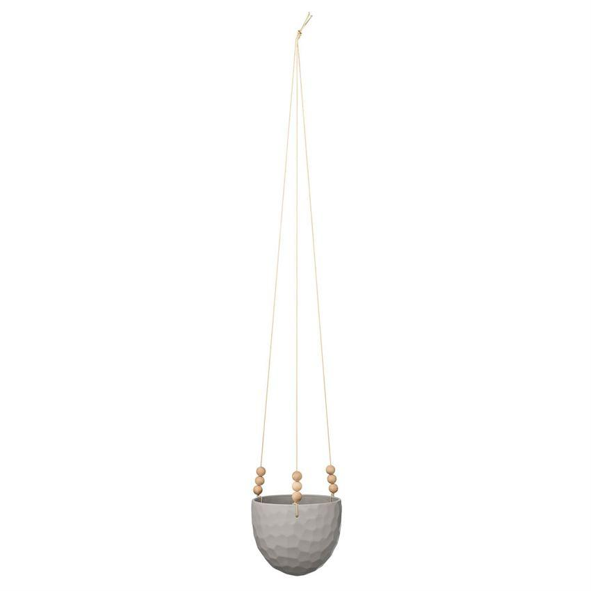 Bloomingville Objects White White Noise Hanging Flower Pot
