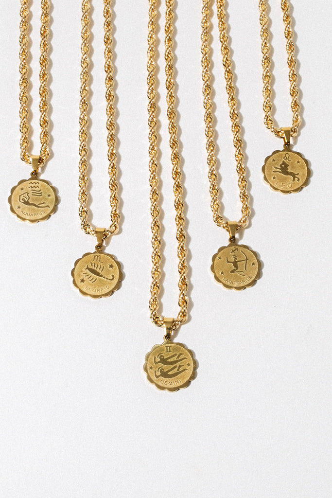 Aimvogue Jewelry Divination Zodiac Necklace