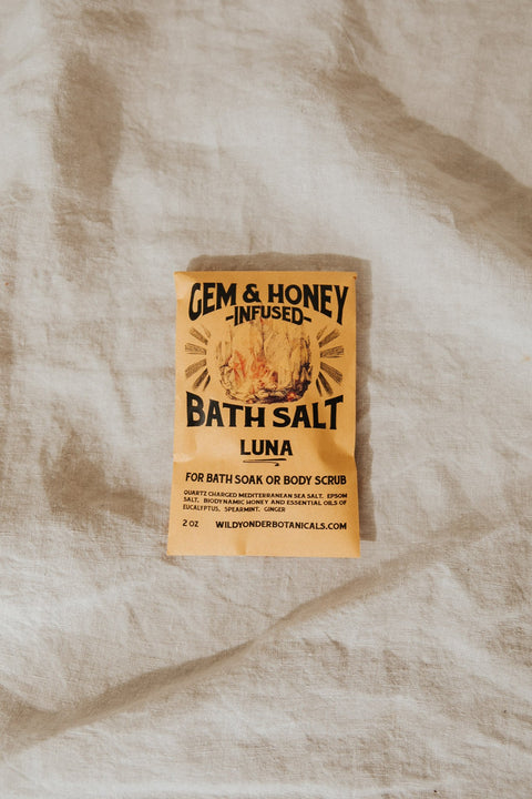 Wild Honey Apothecary Objects Gem Honey Bath Salts