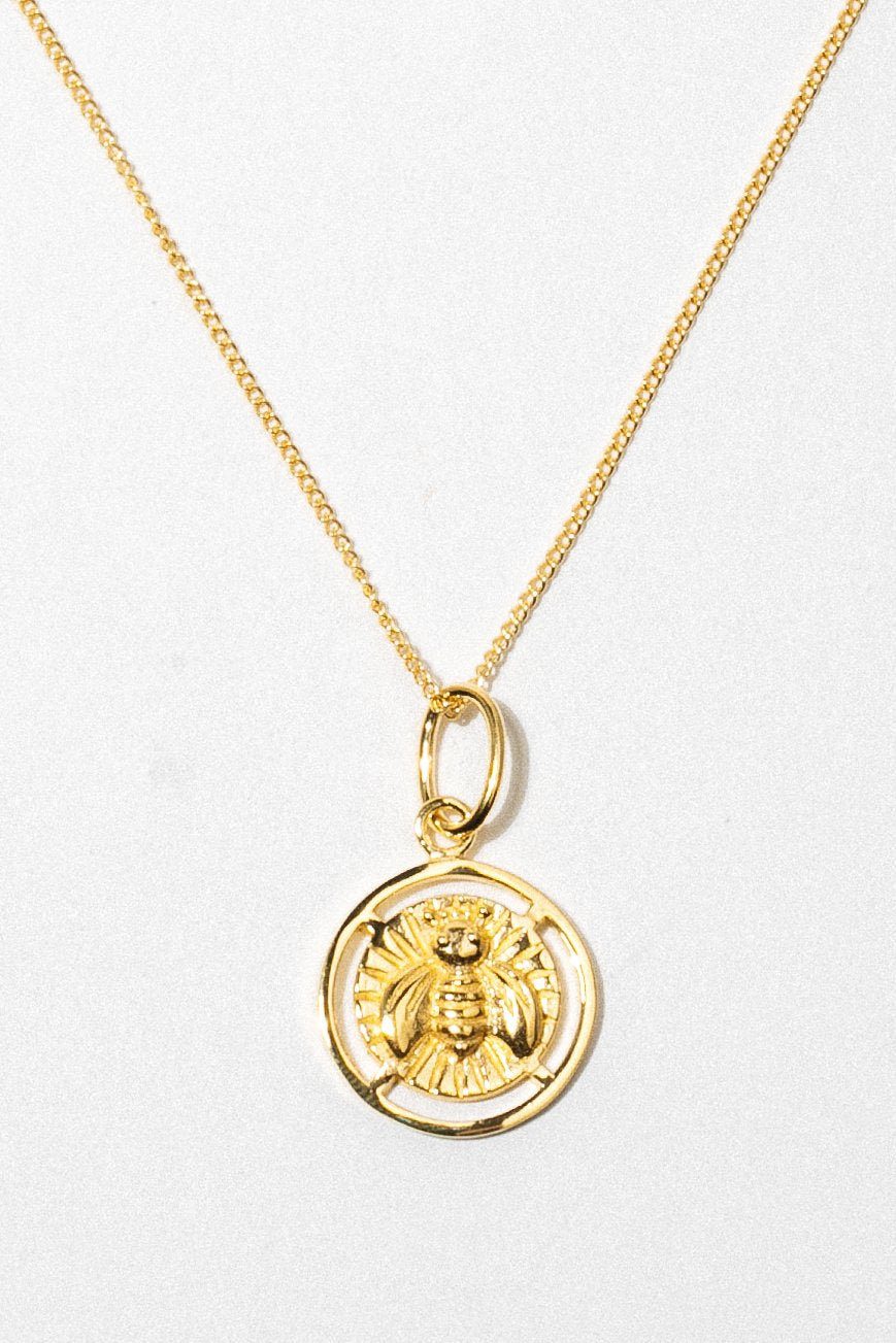 Wildthings Collectables Jewelry Gold / 18 Inches Bee Necklace