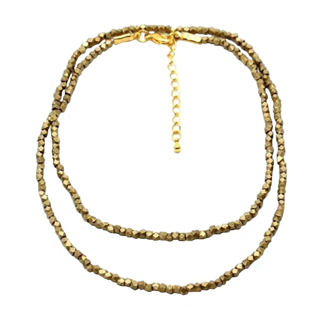 Child of Wild Jewelry Brass / 24 Inches Ethiopian Birr Choker