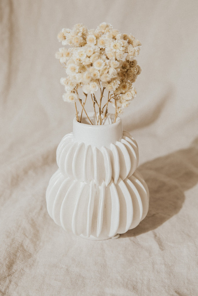 Bloomingville Objects White / FINAL SALE Piper Stoneware Vase