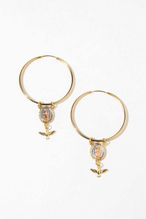 Dona Italia Jewelry Gold The Madonna Earring