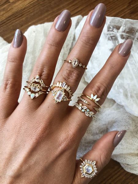 LA KAISER Jewelry Angels Arc Ring