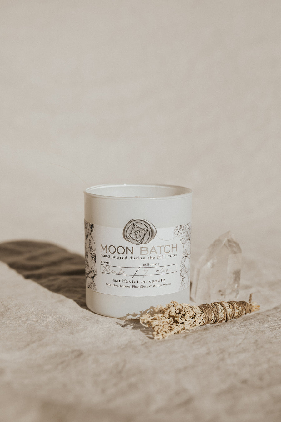 Ritual Provisions Objects White / FINAL SALE WINTER SOLSTICE Moon Batch Candles