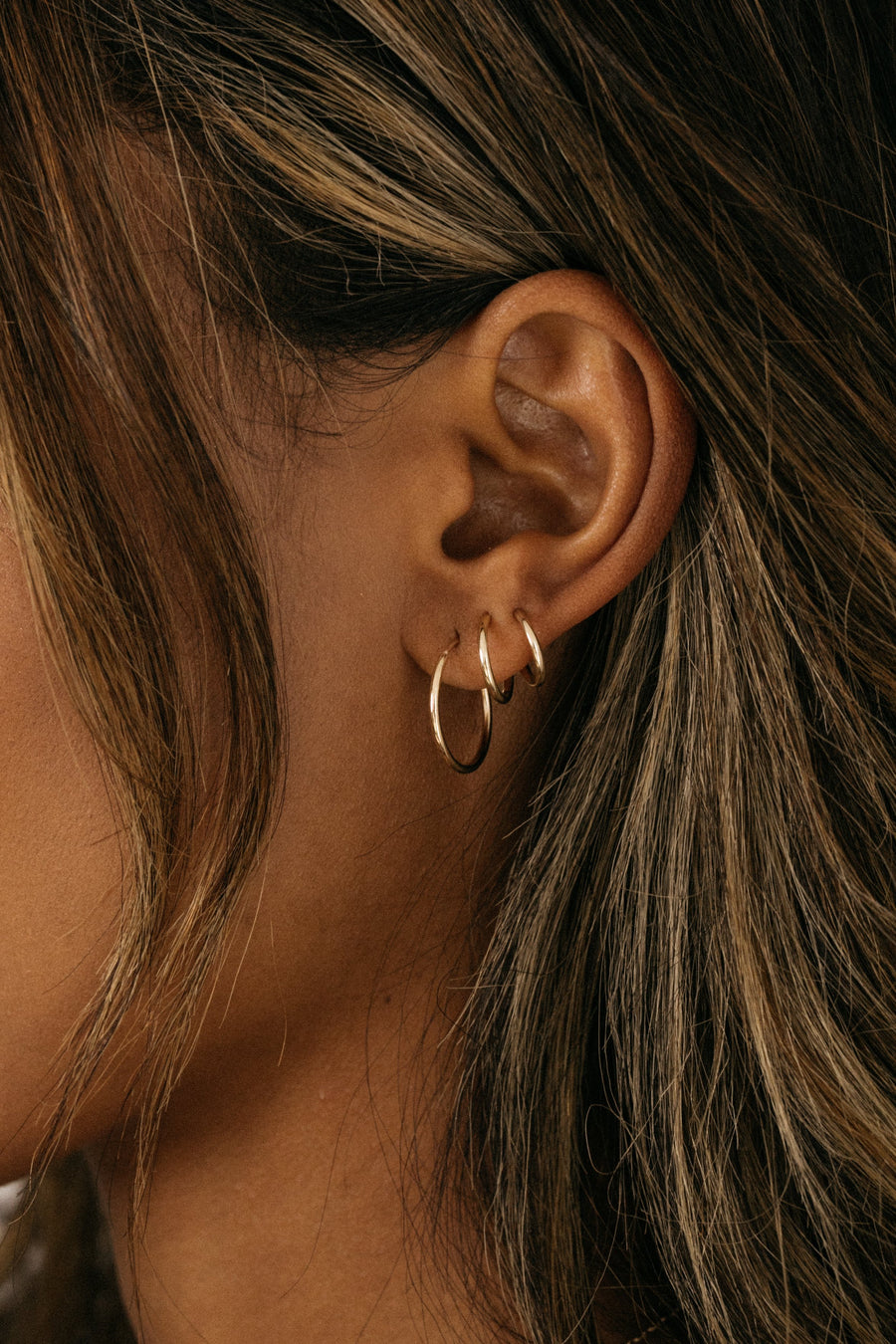 Gempacked Jewelry Endless Gold Hoop Earring