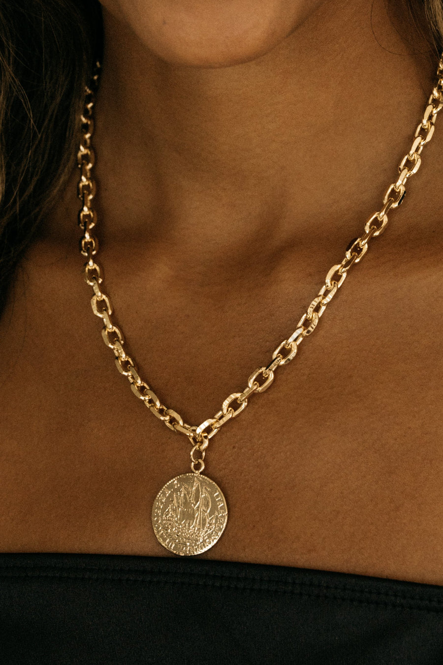 Dona Italia Jewelry Zeeland Coin Necklace
