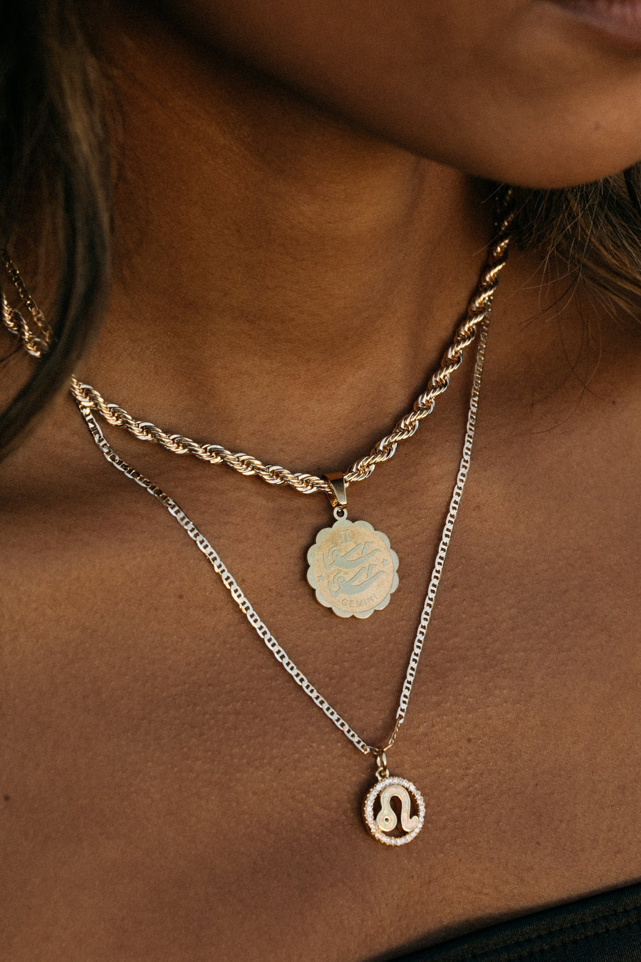 Dona Italia Jewelry Cosmic Opal Zodiac Necklace